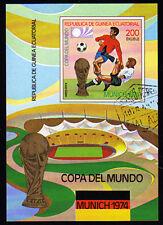 Briefmarken Fußball-weltmeisterschaft 1974 Block 77 Äquatorialguinea Postfrisch