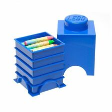 LEGO STORAGE BRICK 1 KNOB BLUE KIDS BEDROOM PLAYROOM STORAGE FREE P+P