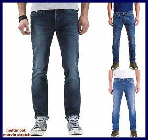 Jeans Meltin pot uomo slim fit elasticizzato pantalone marvin vita bassa w29 w30