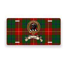 Turnbull Scottish Clan Tartan Novelty Auto Plate Tag Family  License Plate