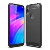 Xiaomi Redmi 7 Handy Hülle Schutzhülle Etui Silikon Case Cover Carbonfarben
