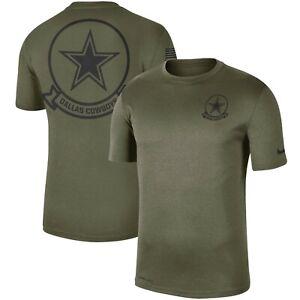 Authentic Nike Dallas Cowboys Men's 2019 NFL Salute to Service T-Shirt Olive