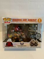 2018 SDCC COMIC CON FUNKO POP BLIZZARD ROADHOG JUNKRAT 2 PC OVERWATCH Vinyl Toy