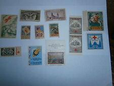 Lot France Vignette timbre neuf croix rouge Victor Prouvé Tuberculose Alsace