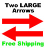 2 LARGE Directional Arrows Vinyl Decals Sign Rider Realtor Auction Select Color