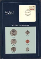 {BJSTAMPS} Coin Sets of All Nations Republic of Singapore BU 1981-1984