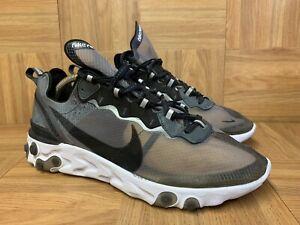 RARE🔥 Nike React Element 87 Anthracite Black Sz 9.5 AQ1090-001 Men's Shoes