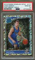 2018 Panini Donruss Optic Fast Break-holo #177 Luka Doncic Rookie Card PSA 10