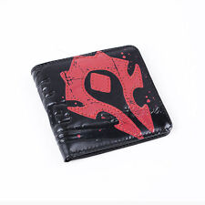 """World of Warcraft Horde Crest Leather Wallet Wow """"For the Horde"""" Leather Purse"""
