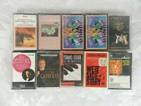 Lot of 10 Cassettes Classical Musicals West Side Story Camelot Liberace