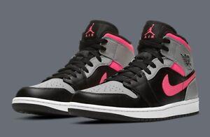 Nike Air Jordan 1 Mid 'Pink Shadow' Black Grey Pink UK Size 9.5 OG 554724 059