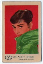 1960s Swedish Film Star Card Bilder B #281 My Fair Lady Actress Audrey Hepburn