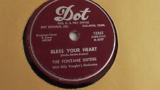 The Fontane Sisters - 78rpm single 10-inch – Dot #15265 Hearts Of Stone
