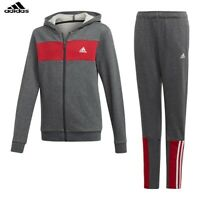Adidas Boys Tracksuit Brushed Kids Tracksuits Bottoms Full Zip Jogging Suit