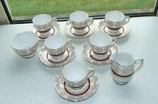 Roslyn Fine Bone China 6.x Coffee Cups and Saucers Milk Jug and Sugar Bowl gitl