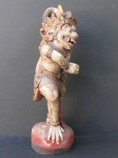 Ancienne Statuette Singha en Bois, mythologie de BALI INDONÉSIE