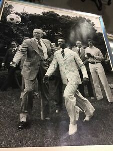 Pele with President Gerald Ford Autographed