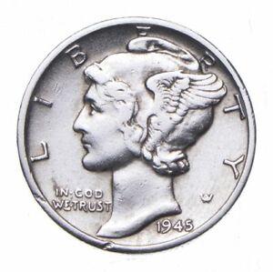 CHOICE - 1945-D Mercury Dime - Mint Marked - TOUGH Coin! *377
