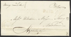1836 Stampless Money Letter, Three Rivers to Montreal, Triple Rate 1/9