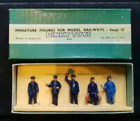 1950s Boxed Set of Dinky '0' Gauge Set No.1 Station Staff. 5 figures.