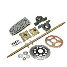"44"" Go Kart Rear Axle kit Brake Rotor Sprocket Chain Hub Drift Golf Cart Buggy"