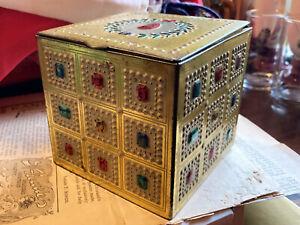 Vintage Baret Ware Faux Jewel Tin