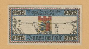 GERMANY DENMARK - FLENSBURG Tug of War NOTE 25 Pfg. 1920 - XF-a/UNC - LOOK!