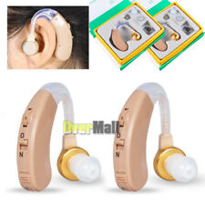 2 Pcs Digital Hearing Aid Aids Kit Behind the Ear BTE Sound Voice Amplifier Gift