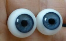 13mm BLOWN GLASS DOLL EYES, GLASS EYES for ANTIQUE DOLL, Dollmaking