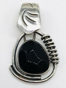 Silpada Sterling Silver Faceted Black Onyx Pendant S0756