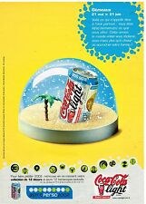 Publicité Advertising 2002 Boisson Soda Coca Cola Light