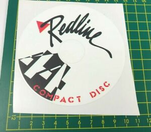 old school bmx decals stickers redline 44t compact disk disc decal white