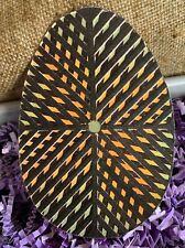 "Repro Vintage Green Black Optical Illusion Egg Cardstock Decoration,8"" Or 10"""