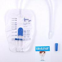 ServoCura Beinbeutel Urinbeinbeutel 750 ml, 50 cm mit Ventiltasche TOP Marke