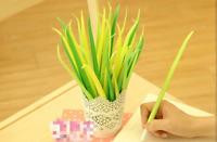 Green Grass Leaf Fine Point Pen Novelty Set Kids Party Gift Kawaii Fun