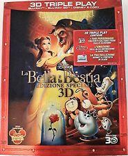 LA BELLA E LA BESTIA 3D Triple Play - BLU RAY+BLU RAY 3D+E-COPY Disney SLIPCOVER