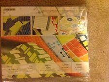 Creative Memories Gizmos Gadgets Album Kit Blue Green Orange Yellow Stickers