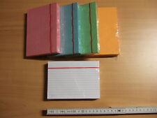 Karteikarten DIN A6 blanko liniert Farbe weiß blau gelb rot grün orange