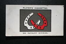 British 2nd Cavalry Division  World War 1 1914/18 INSIGNIA CARD  VGC