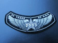 COOL NEW HARLEY DAVIDSON PATCH - 2003 EAGLE 20 YEARS OF HOG