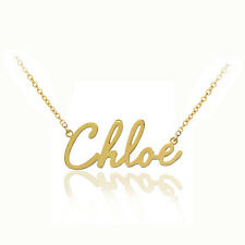 Personalized Name Necklace (Order Any Name) -24K  Gold with Sterling Silver