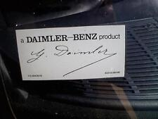 Daimler SIGNED MERCEDES-BENZ Windshield Decal Sticker a DAIMLER-BENZ product