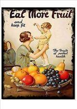 Vintage Fresh Fruit  Advertising poster reproduction metal sign, Greengrocers