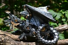Guardian Steampunk Dragon Statue - Fantasy - Mythical - Figurine - Mechanical