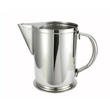 Winco WPG-64, 64-Ounce Water Pitcher with Ice Guard, Stainless Steel