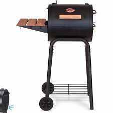 Charcoal Grills Char Griller Patio Pro on Wheels Stove BBQ Steel Cart Side Shelf