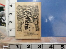 Stampin Up! Snowman winter scene frosty    RUBBER STAMP 5I