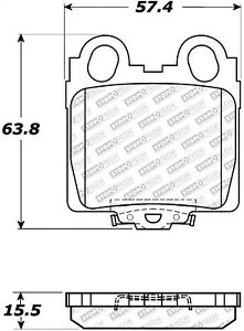 StopTech 305.07710 Street Select Brake Pads Fits GS300 GS400 GS430 IS300 SC430