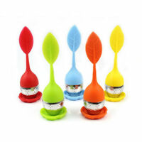 Tea Infuser Loose Tea Leaf Strainer Herbal Spice Silicone Filter Diffuser XJ