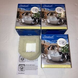3-Qty PetSafe Drinkwell Foam Filters #5 for Cat Water Fountains 2-Pk PAC00-13711